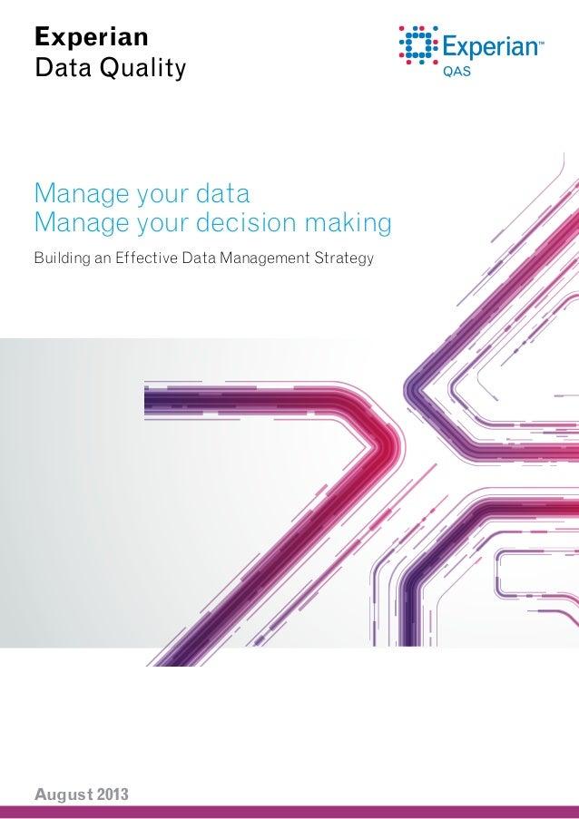 Building an Effective Data Management Strategy