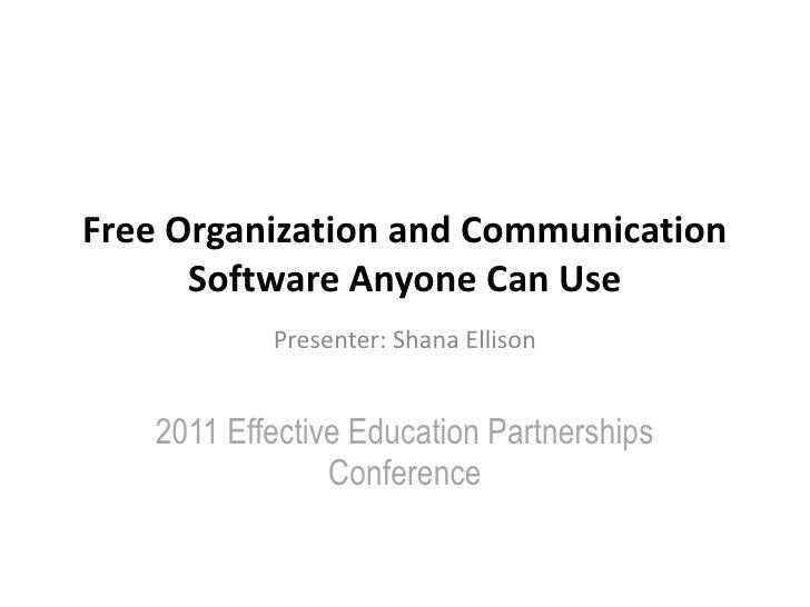 Free Organization & Communication Tools