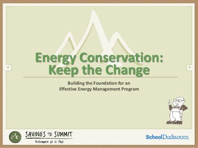 Effective Energy Management - Savings Summit 2013