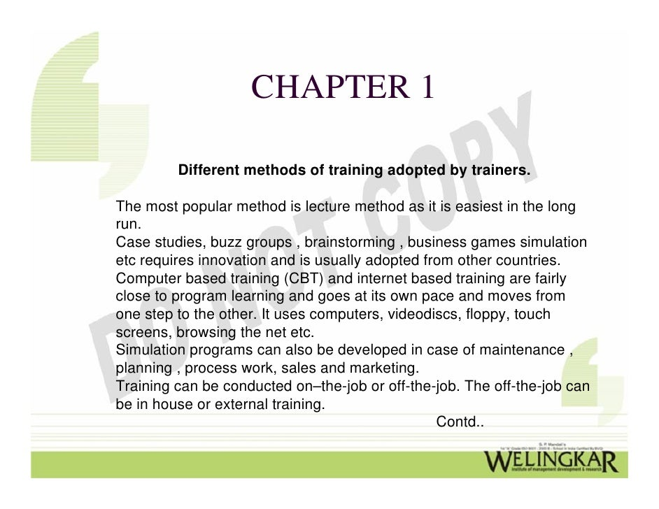 case study of training program