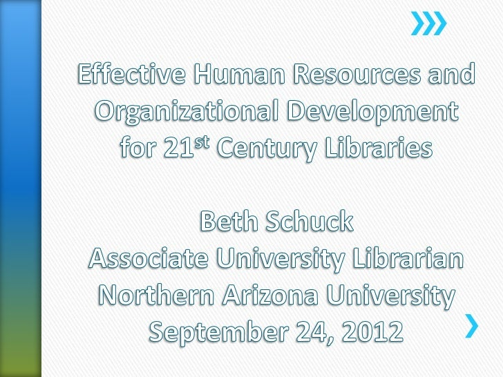 Effective human resources and organizational development