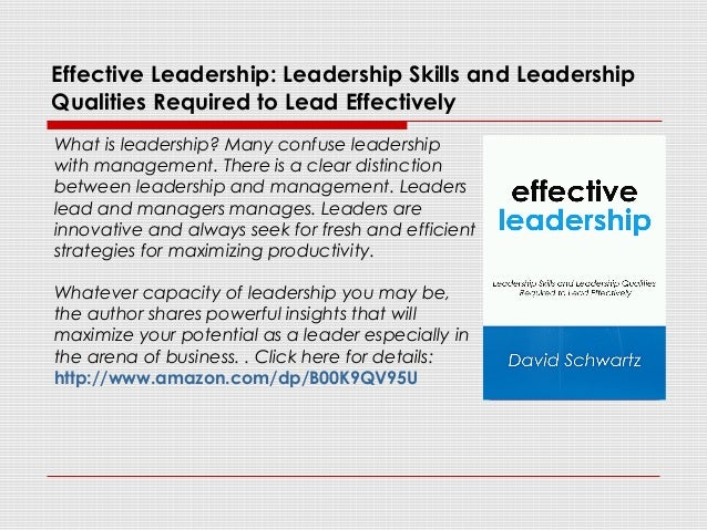 Essay On Effective Leadership