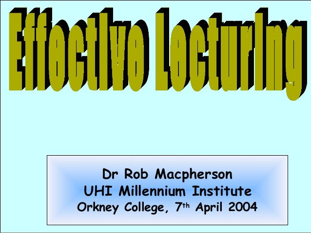 UHI Millennium Institute, Business and Leisure - Effective Learning (Orkney College)