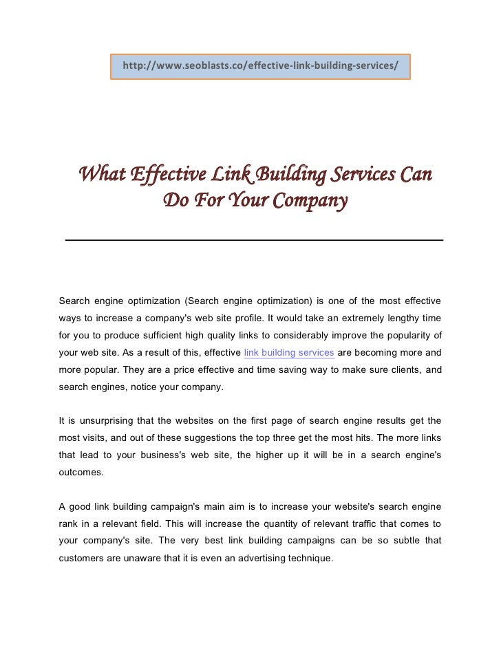 http://www.seoblasts.co/effective-link-building-services/    What Effective Link Building Services Can            Do For Y...