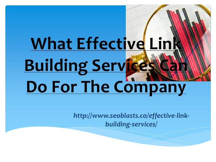Effective link building services for your company