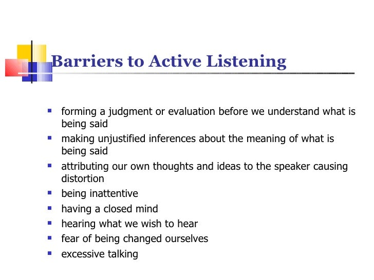 barriers to effective listening essays