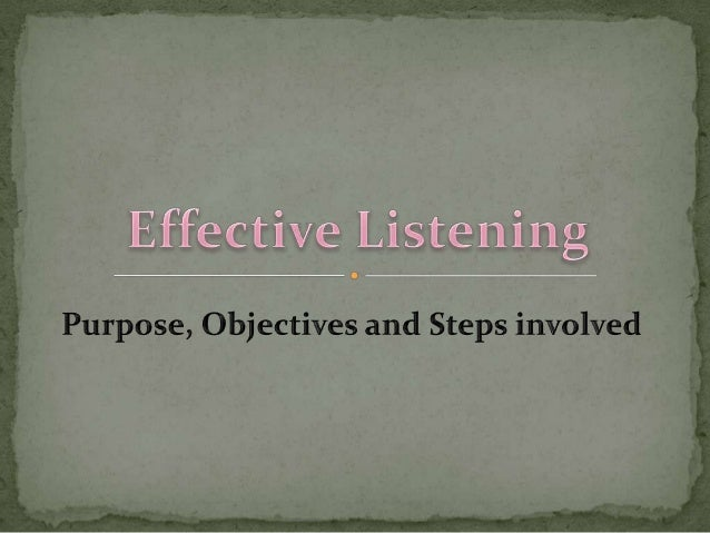 Informative listening is the name we give to the situation where the listener's primary concern is to understand the messa...
