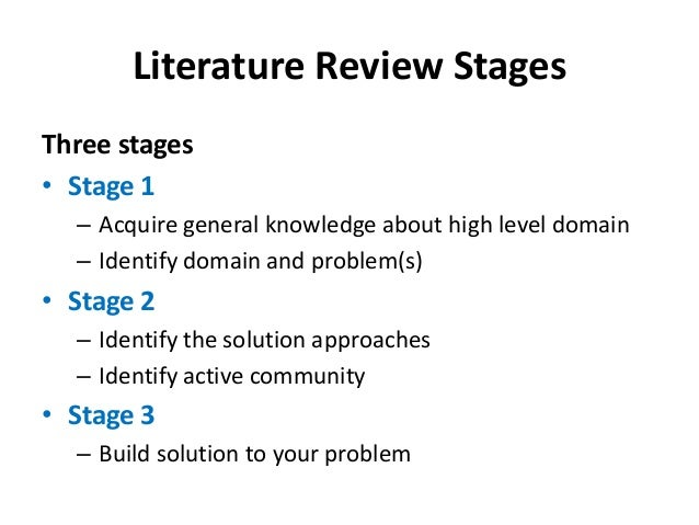stages in the literature review process What is business process management: a two stage literature review of an  emerging field charles møller1, carsten j maack2 and rune d tan3  1aalborg.