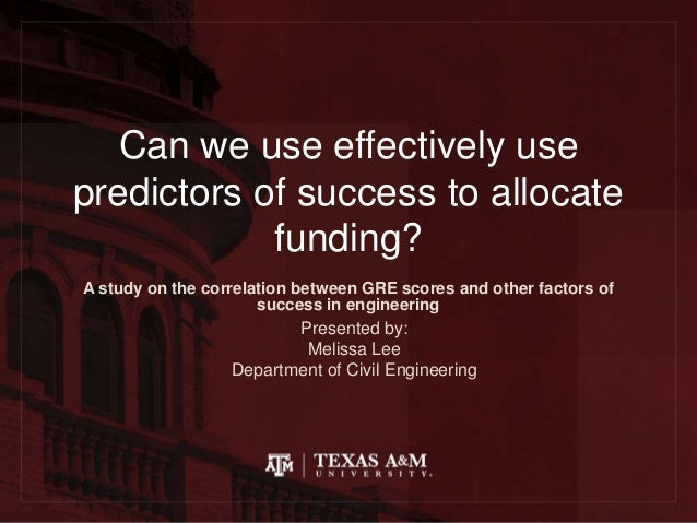 Effectively using predictors of success for student funding