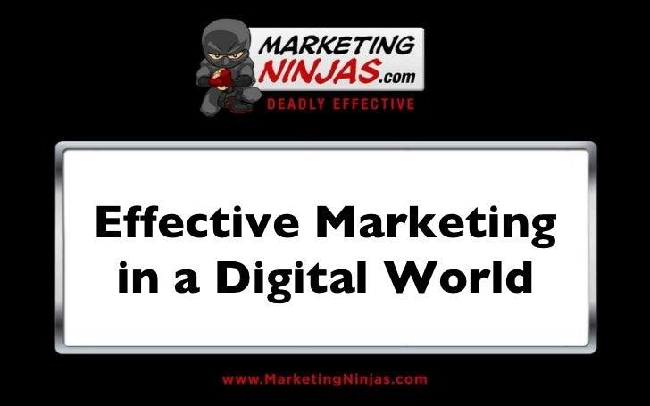 Effective Marketing in a Digital World