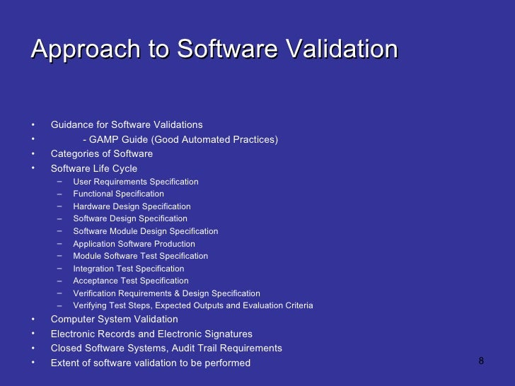 software validation plan template - effective medical device validation introduction manual