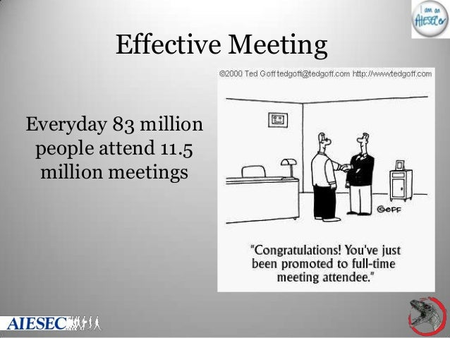 Effective Meeting Everyday 83 million people attend 11.5 million meetings
