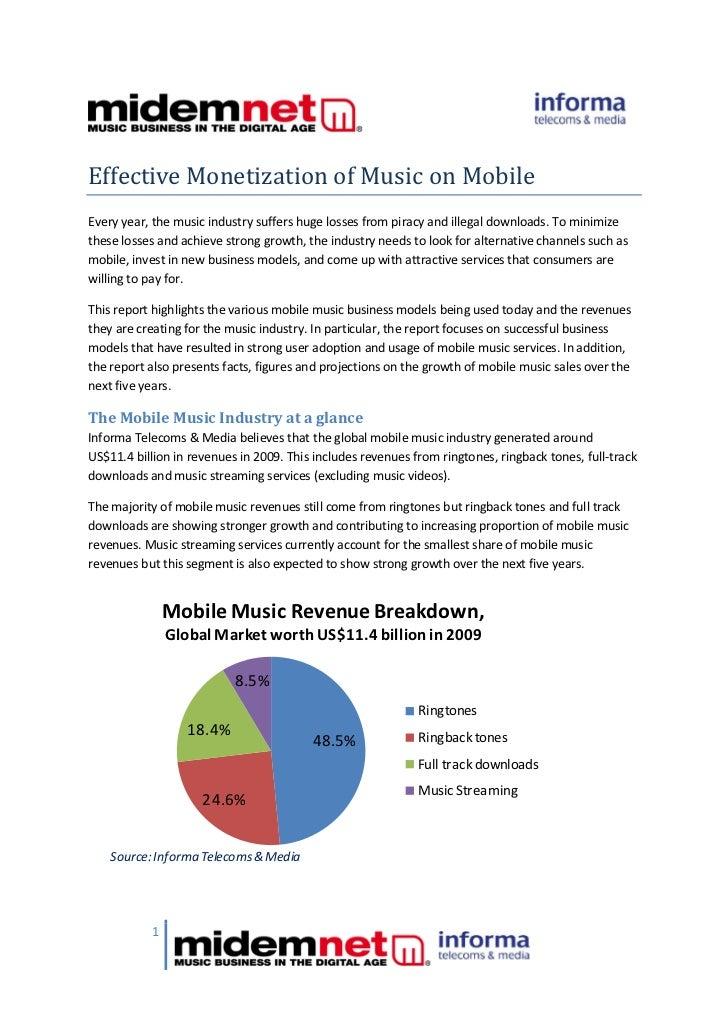Effective Monetisation of Music on Mobile