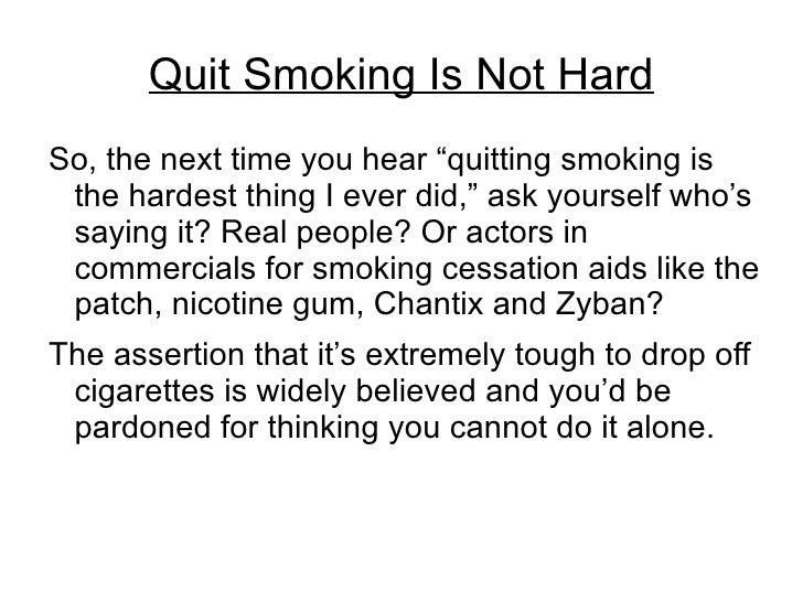 quit smoking essay
