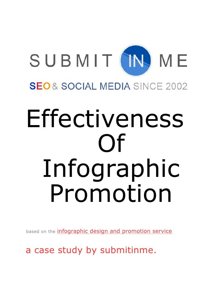 Effectiveness      Of Infographic  Promotionbased on the   infographic design and promotion servicea case study by submiti...