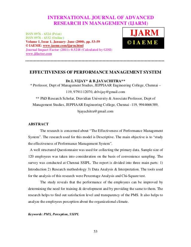 InternationalINTERNATIONAL JOURNAL OF ADVANCED– 6324               Journal of Advanced Research in Management (IJARM), ISS...