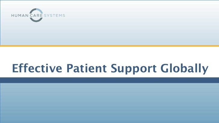 Effective Patient Support Globally