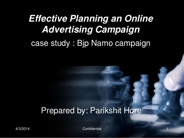 Effective planning an online advertising campaign