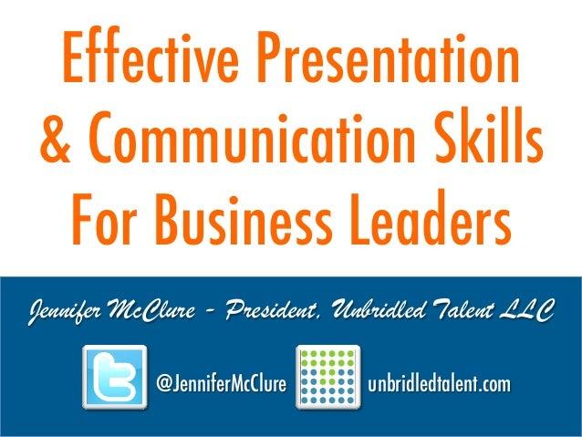 Effective Presentation & Communication Skills For Business Leaders