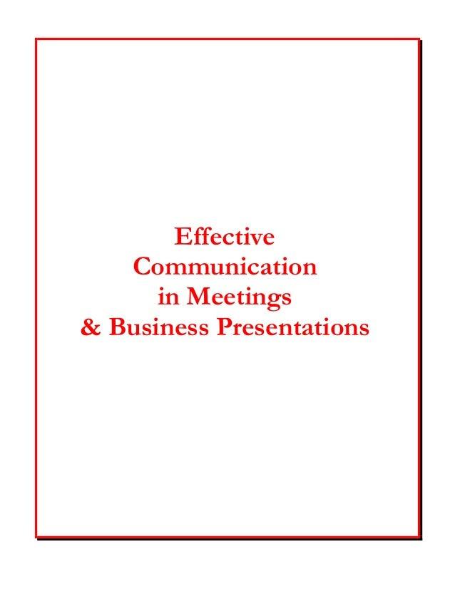 Effective Presentations - handout