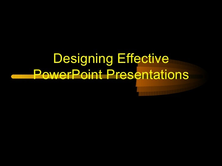Effective presentations shorter version