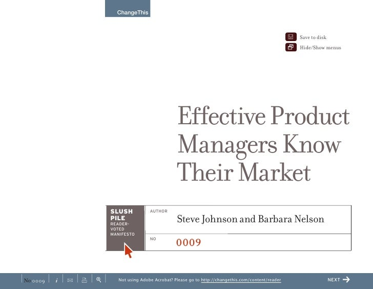 Effective Product Managers Know Their Market