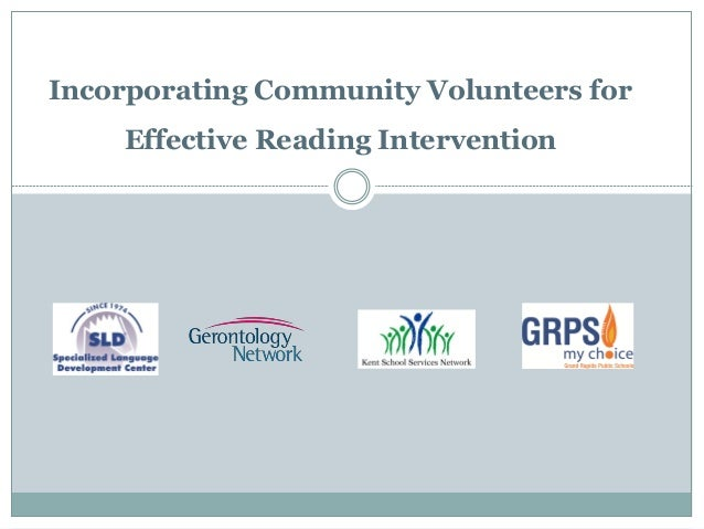 Incorporating Community Volunteers for Effective Reading Intervention