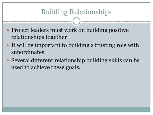 Building Work Relationships Building Relationships