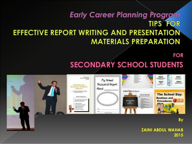 Secondary school report writing software