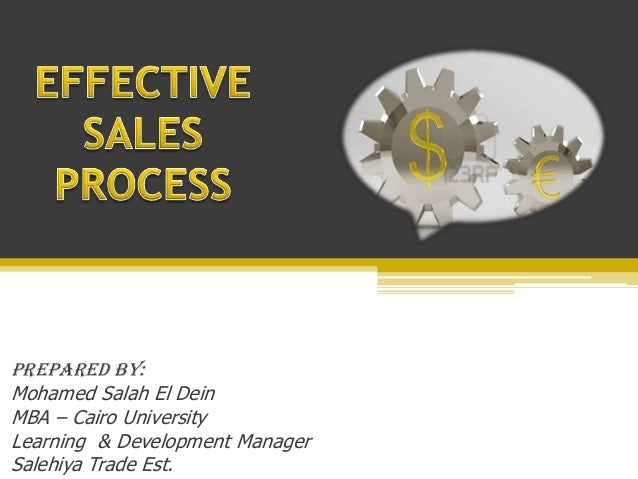 Effective selling process presentation