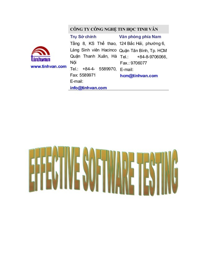 Effective software testing