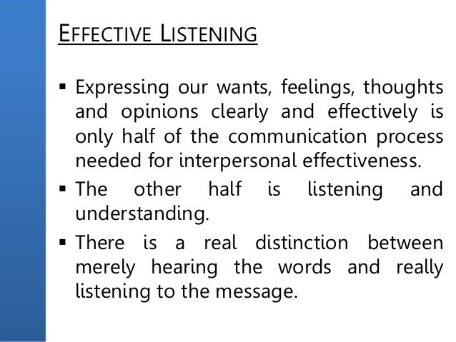 Effective speech