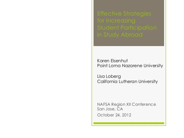 Effective strategies for increasing student participation abroad