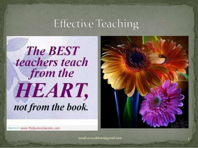 Effective teaching 2014(vse)