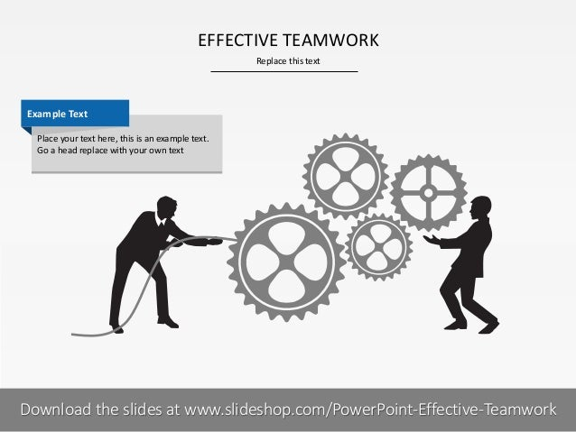 EFFECTIVE TEAMWORK Replace this text  Example Text Place your text here, this is an example text. Go a head replace with y...