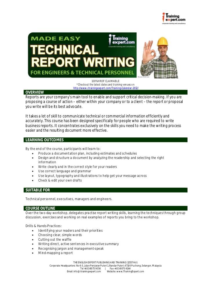 technical writing exercises