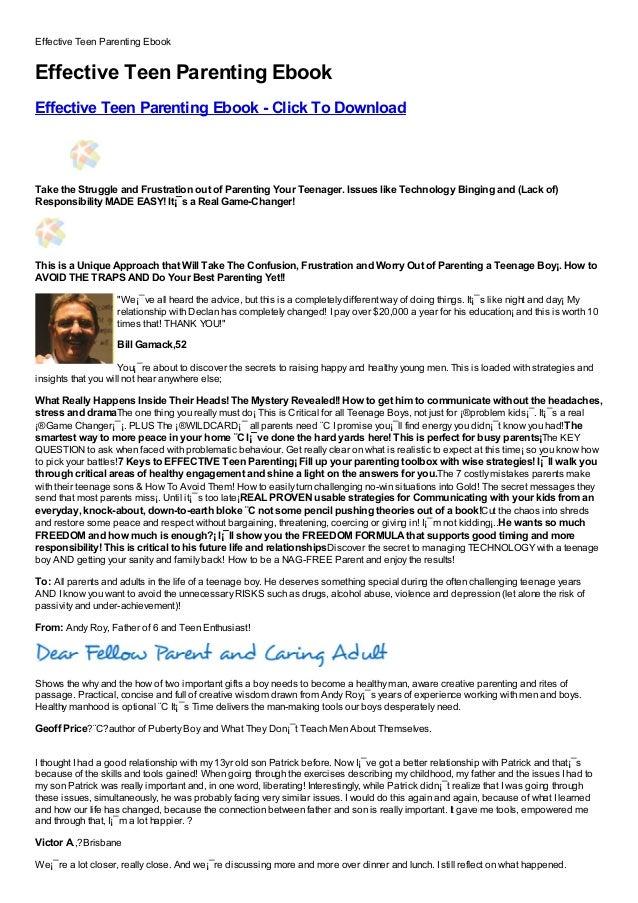 Effective Teen Parenting EbookEffective Teen Parenting EbookEffective Teen Parenting Ebook - Click To DownloadFree, Buy, F...