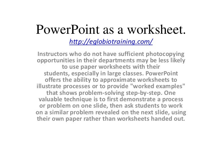 power point an efficient tool essay How to do an informative powerpoint by anni martin related articles how to make outstanding powerpoint slides microsoft powerpoint 2010 contains many tools to create your business presentation, but it does not create the substance of your presentation itself.