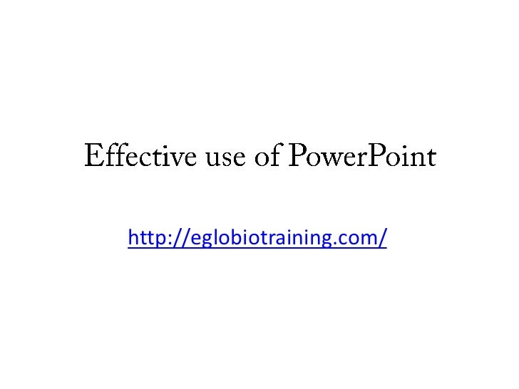 Effective use of power point tm09118