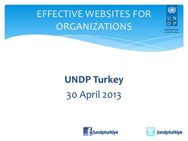 Effective websites for organizations