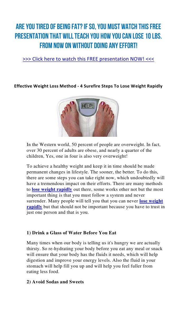 Effective Weight Loss Method