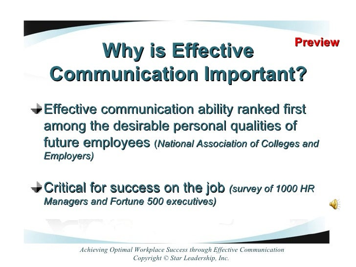 effective communication in the workplace 2 2 workplace communication identify norms and responsibilities in workplace communication identify and reduce blocks to effective listening.