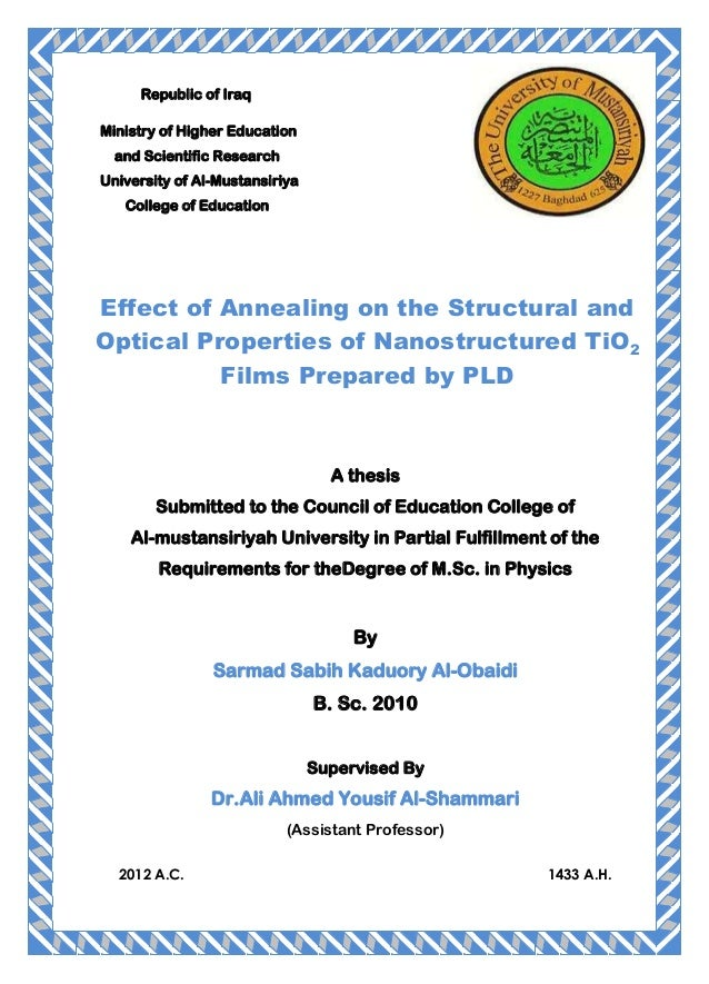 Effect of annealing on the structural and optical properties of nanostructured ti o2 films prepared by pld