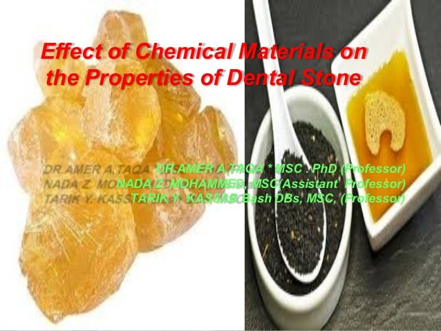 Effect of chemical materials on the properties of dental stone
