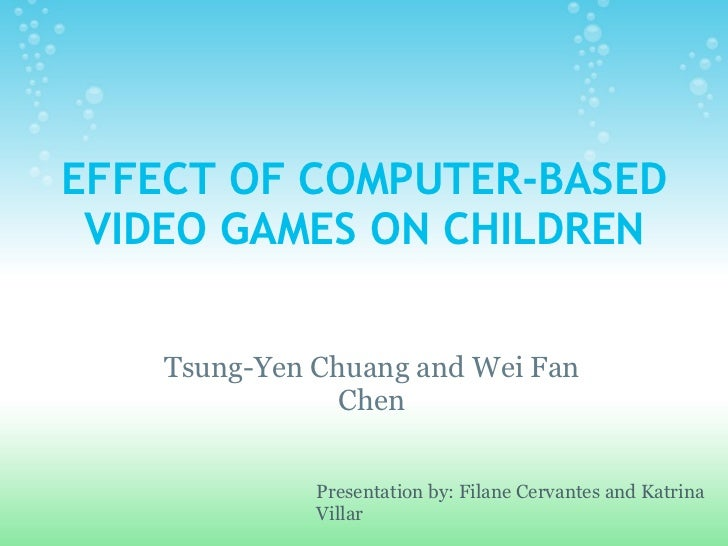impact of computer games on study This experimental study investigated whether computer-based video games facilitate children's cognitive learning in comparison to traditional computer-assisted instruction (cai), this study.