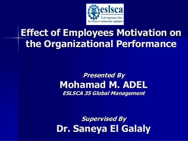 Thesis on impact of motivation on employee performance