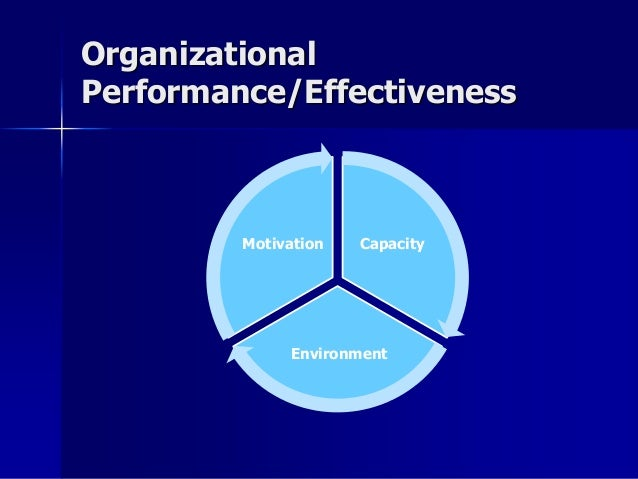 organizational performance Of course, how a nonprofit or public organization measures its success will  always  measuring performance allows organization leaders to evaluate  progress,.