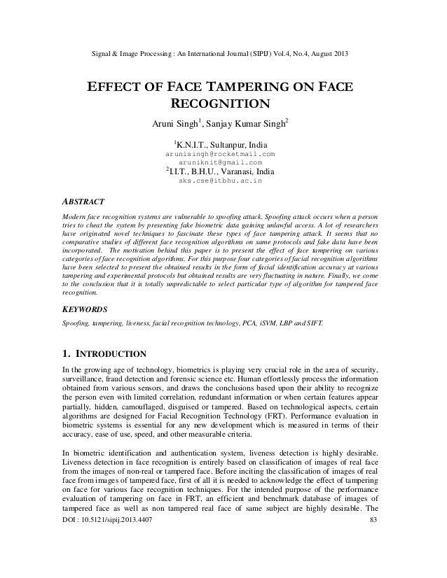 Signal & Image Processing : An International Journal (SIPIJ) Vol.4, No.4, August 2013 DOI : 10.5121/sipij.2013.4407 83 EFF...
