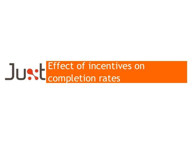 Effect of incentives on completion rates