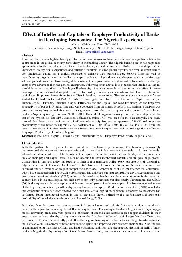 Research Journal of Finance and Accounting www.iiste.org ISSN 2222-1697 (Paper) ISSN 2222-2847 (Online) Vol.4, No.11, 2013...